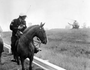 Mounted unit and helicopter