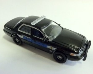LIMITED EDITION Hot Pursuit Cleveland Police Car 2008 Ford Interceptor
