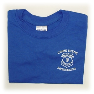Children's Crime Scene Investigator T-shirt with Front Badge